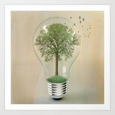 green ideas Art Print