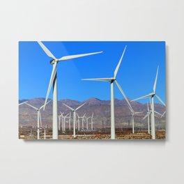 Wind Mill Power  Metal Print