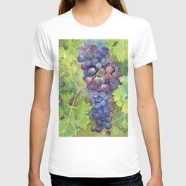 Grapes Watercolor Fruit Food Wine Lovers T-shirt
