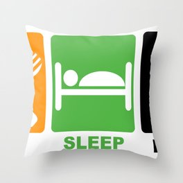 eat sleep linux Throw Pillow