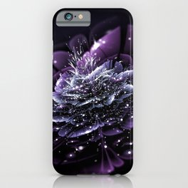 fractal flower abstraction glare dots iPhone Case