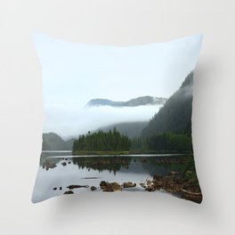 Peaceful Morning on the Lake Throw Pillow