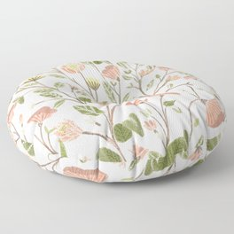 Spring Floral Pattern Floor Pillow
