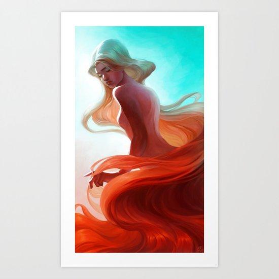 Cascading Sunlight  Art Print