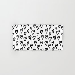 Hearts Pattern 01 Hand & Bath Towel