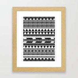 DG Aztec No.1 Monotone Framed Art Print
