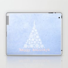 Blue Happy Holidays Christmas Design Laptop & iPad Skin