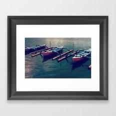 Little Boats Framed Art Print