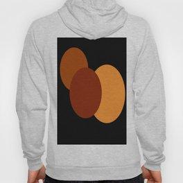 Orange Brown Mod Circles Hoody