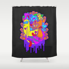 Where the Dead Things Play Shower Curtain