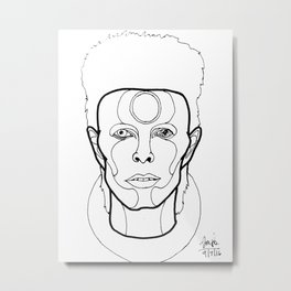 My Version of Ziggy 3 Metal Print