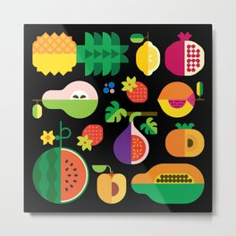 Fruit Medley Black Metal Print