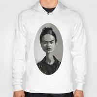 frida kahlo Hoodies featuring Frida Kahlo by Kostas Roussos