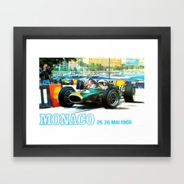 Monaco 1968 Grand Prix Framed Art Print