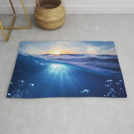 Wonderful Magnificent Sunset At High Sea Ultra HD Rug