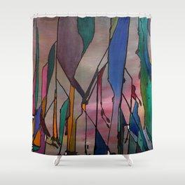 Pastel Oil Shower Curtain
