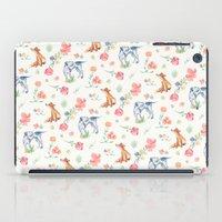 the hound iPad Cases featuring Fox & Hound by jilln