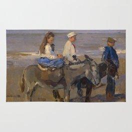 Boy and Girl Riding Donkeys - Isaac Israëls Rug