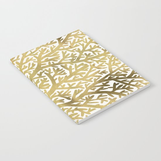 Gold Fan Coral Notebook