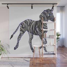 The Purple Zebra Wall Mural