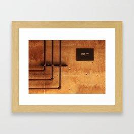 Access Area Framed Art Print