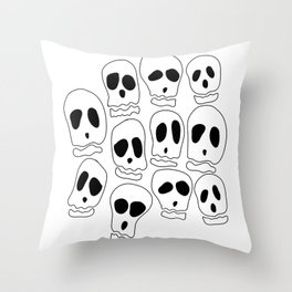 Skulls-1 Throw Pillow