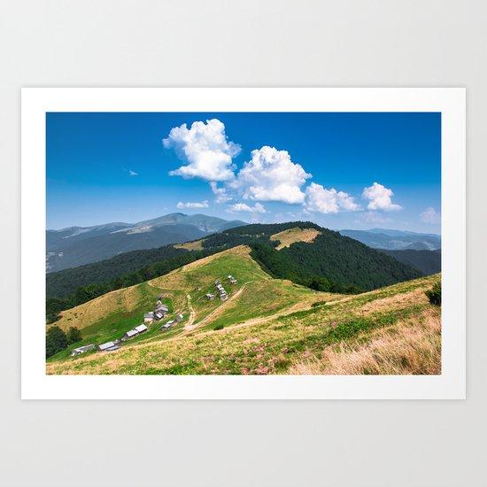 mountain village Art Print