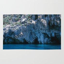 NATURE'S WONDER #4 - BLUE GROTTO #art #society6 Rug