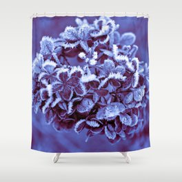 Ultra Violet Ice Crystal Poetry Shower Curtain