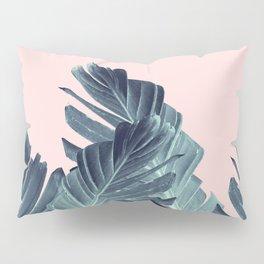 Blush Navy Blue Banana Leaves Dream #1 #tropical #decor #art #society6 Pillow Sham