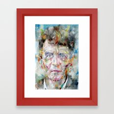 LUDWIG WITTGENSTEIN - watercolor portrait Framed Art Print