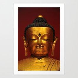 Golden Buddha for Peacefulness Art Print