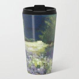 Fields of White and Purple Travel Mug