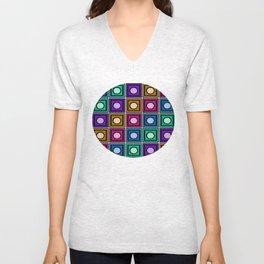 Dot Squared Unisex V-Neck