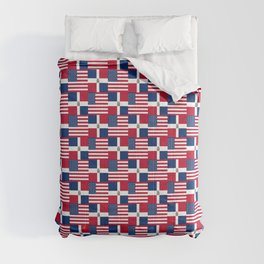 Mix of flag: usa and dominican republic Comforters