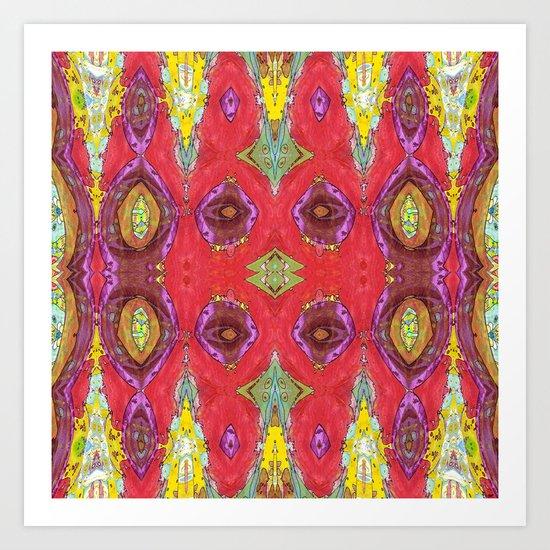 Fancy Red Art Print