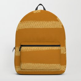 Hatch Marks of Lines in Yellow on Deep Gold Backpack