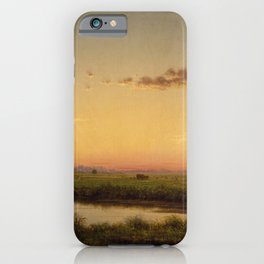 Haystacks On The Newburyport Marshes 1862 By Martin Johnson Heade | Reproduction iPhone Case