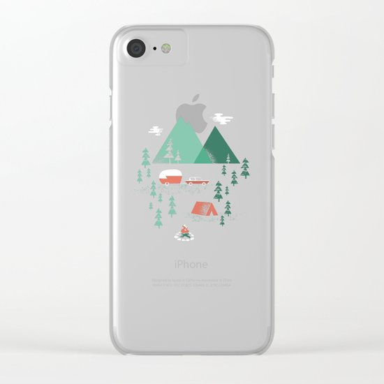 Pitch a Tent Clear iPhone Case