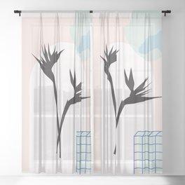 // Royal Gardens 01 Sheer Curtain