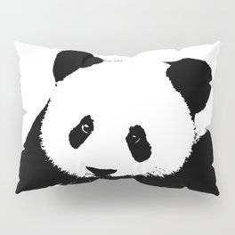Giant Panda in Black & White Pillow Sham
