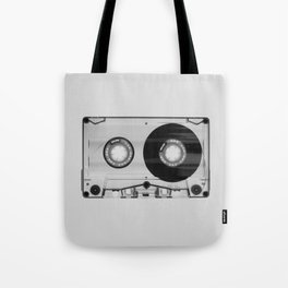 Vintage 80's Cassette - Black and White Retro Eighties Technology Art Print Wall Decor from 1980's Tote Bag