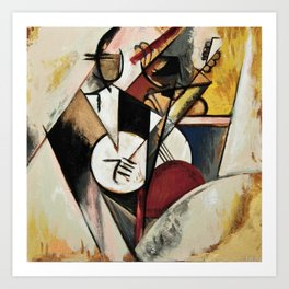Study after Gleizes' Composition pour Jazz Art Print