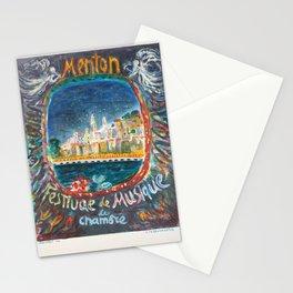 menton festival de musique de vintage Poster Stationery Cards