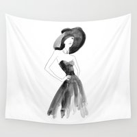 audrey Wall Tapestries featuring Audrey by Esther Kang