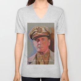 General Douglas McArthur Unisex V-Neck