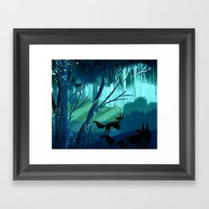 Shadow Wolves Stalk The Silver Wood Framed Art Print