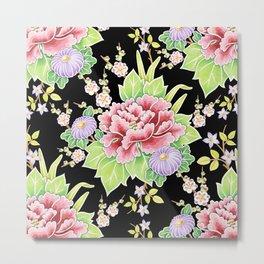 Kimono Bouquet Chintz Metal Print