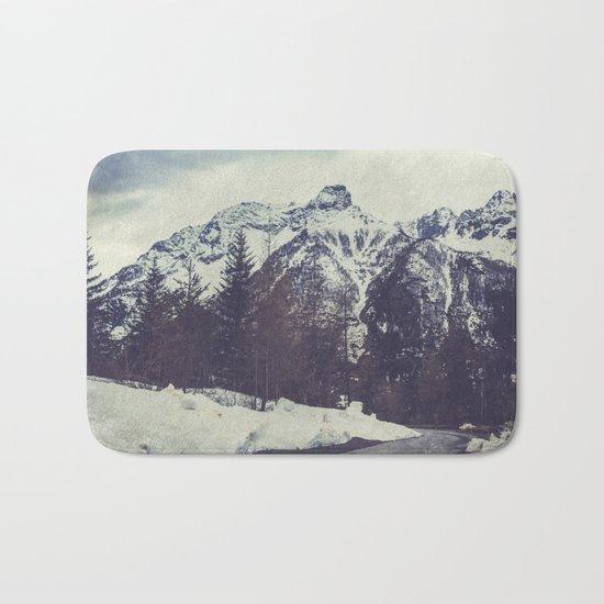 Snow on the Mountains Bath Mat
