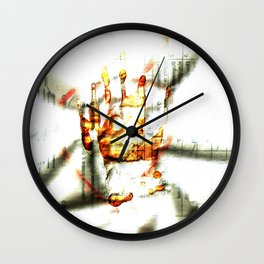 Trace of the hand Wall Clock